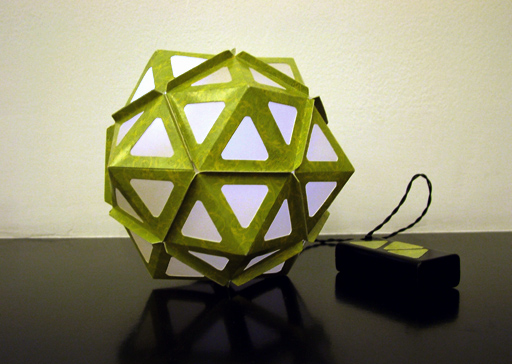 Pentakis Dodecahedron lamp design by KanguLUM